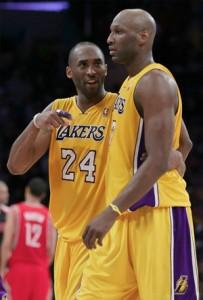 The heroes against Houston, Kobe Bryant and Lamar Odom.